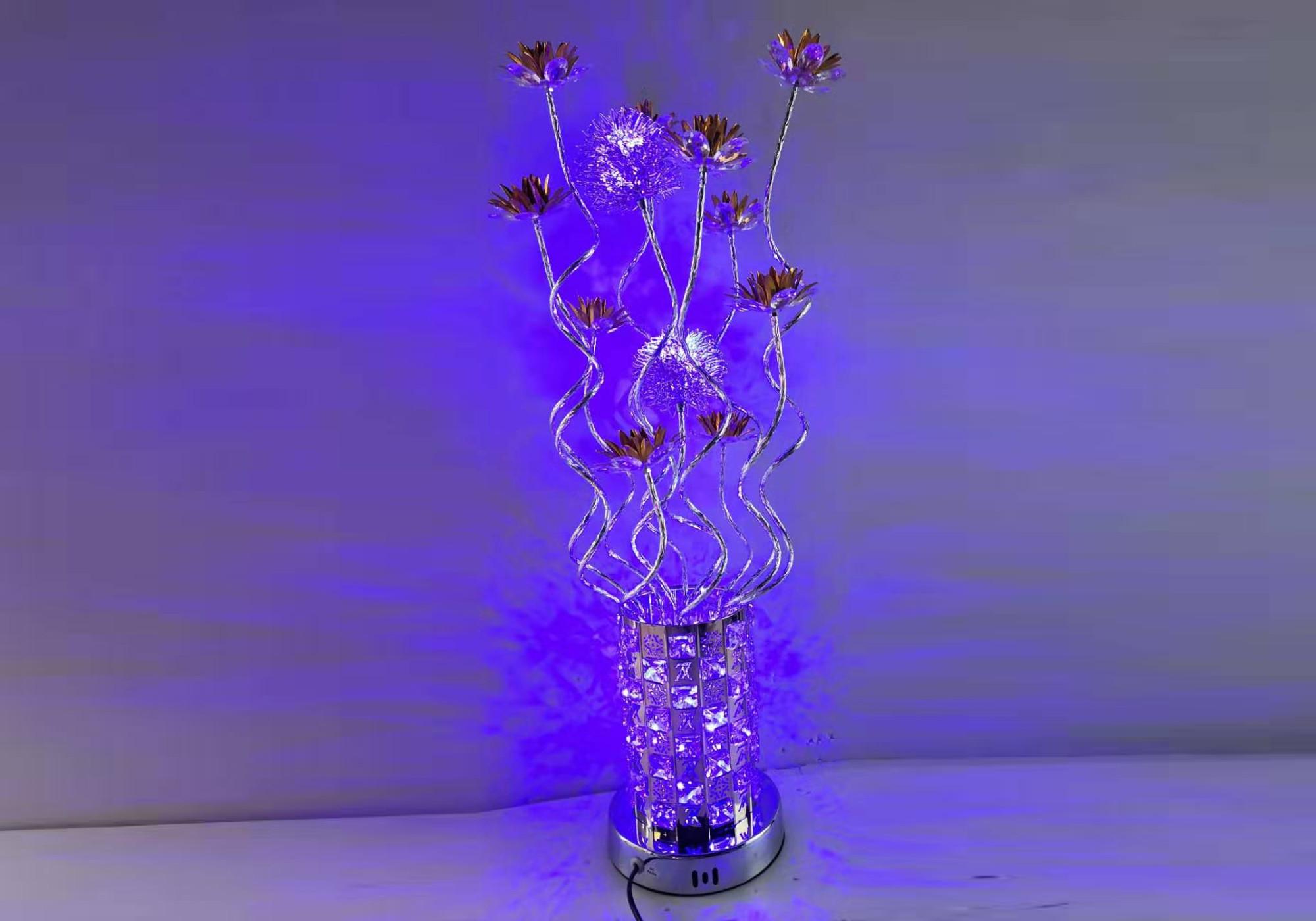 Lampe à poser alu fleur led ALIX