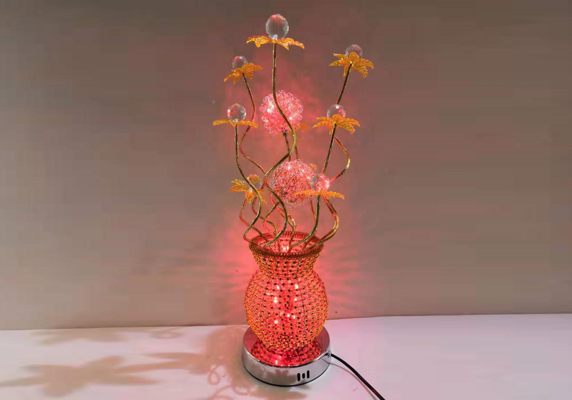 Lampe à poser alu fleurs led ANIA