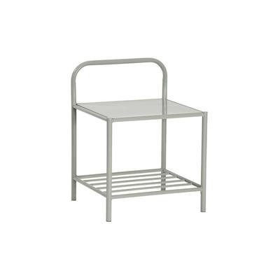 Table chevet métal gris EVY