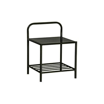 Table chevet métal noir EVY