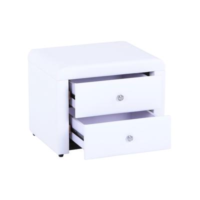 Table chevet simili blanc ANIS