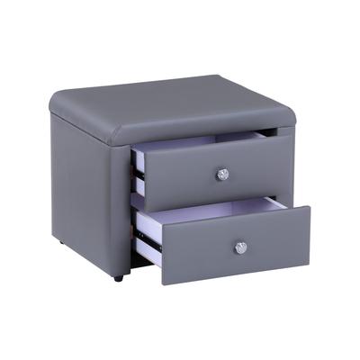 Table chevet simili gris ANIS