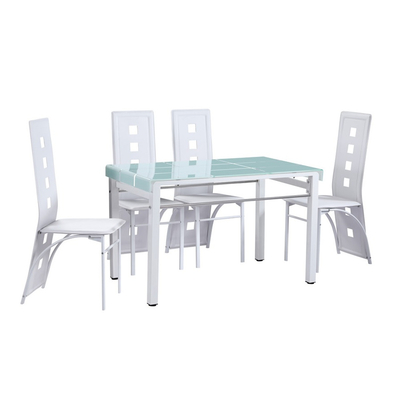 Table manger 6 chaises blanches TAO