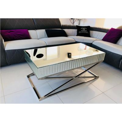 Table basse design miroir IRYS