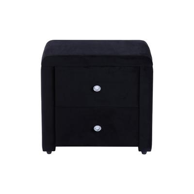 Table chevet velours noir ANIS