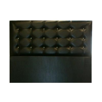 Tête de lit capitonné simili cuir noir ECOLINE