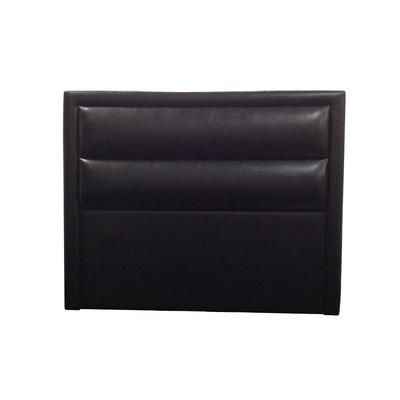 Tête de lit capitonné simili cuir noir LIDYA