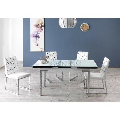 Table extensible & chaises blanc REST
