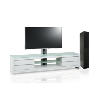 Meuble blanc Tv design blanc 200 cm