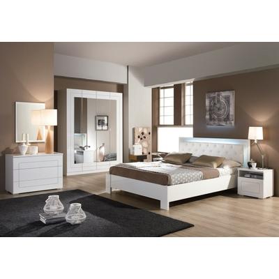 Meubles chambre à coucher laqué blanc ALASKA
