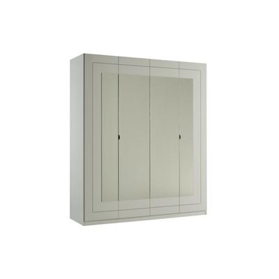 Armoire 4 portes laqué blanc ALASKA