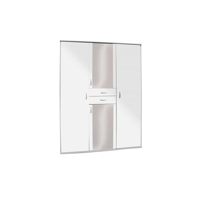 Armoire 4 portes 2 tiroirs BÉNI blanc