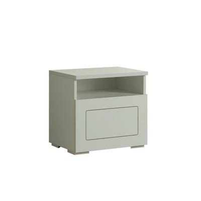 Table chevet design laqué blanc ALASKA
