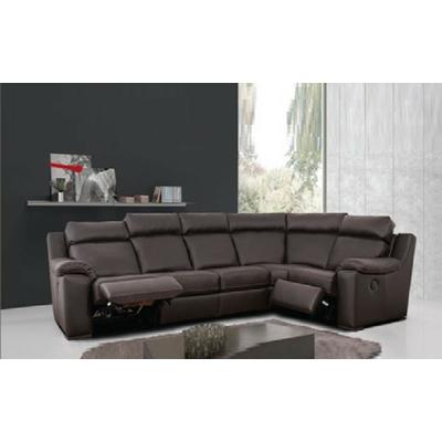 Canapé angle relax cuir gris ARGO