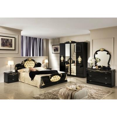 Chambre complète laqué noir or MICHELLE