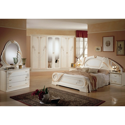 Chambre complète laqué blanc LORY