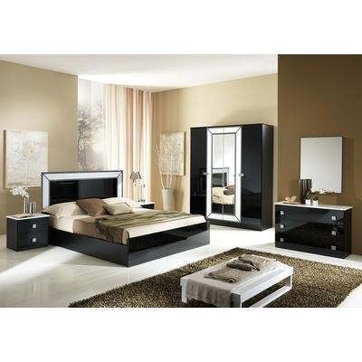 Chambre complète laqué noir IDEA