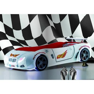 Lit enfant voiture course blanc R1