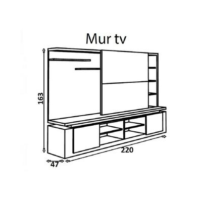 meuble-tv-mural-design-laque-blanc-noir-riva