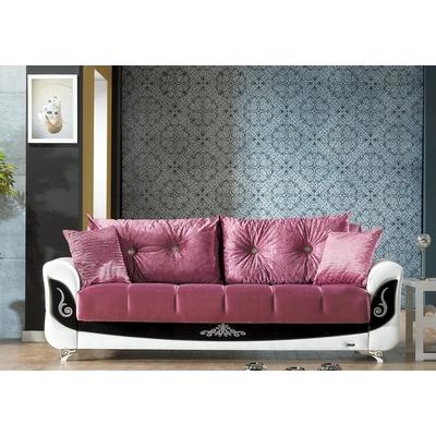Canapé lit-coffre velours INCI