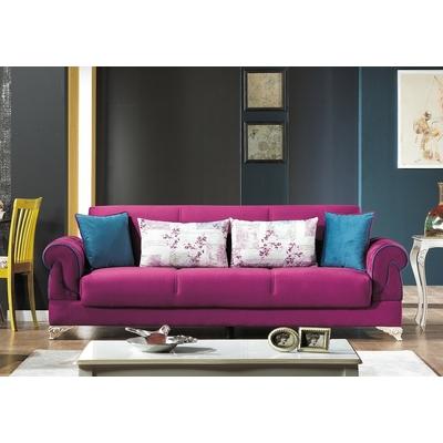 Canapé lit coffre velours violet GOLF
