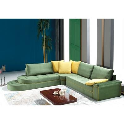 Canapé angle vert  ZIGANA