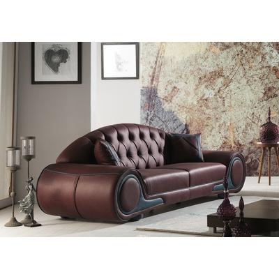 Canapé simili cuir bordeaux CENZO