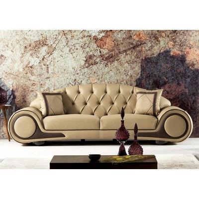 Canapé simili cuir cappuccino CENZO