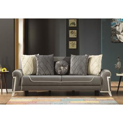 Canapé lit-coffre gris BOSTON