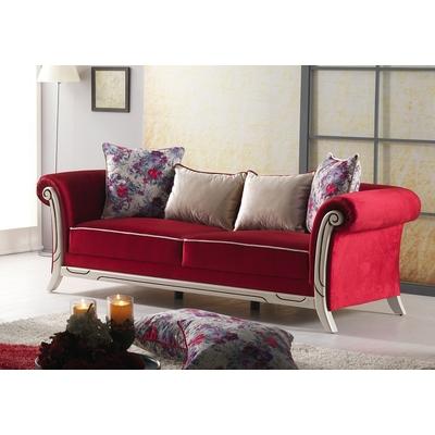 Canapé velours rouge MONA