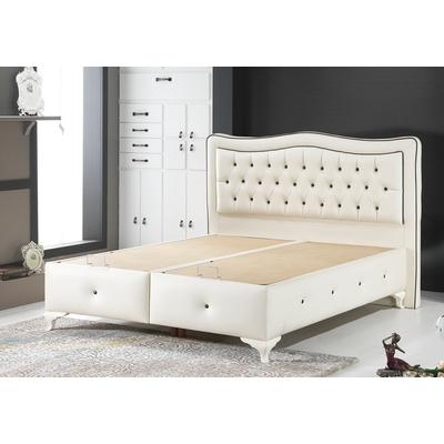 lit coffre capitonn velours beige london king size pas cher. Black Bedroom Furniture Sets. Home Design Ideas