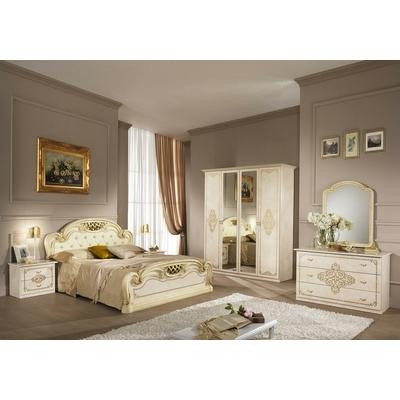 Chambre complète laqué beige ANNA