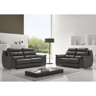 Canapé cuir design noir BARBAROS