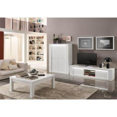 Bar meuble tv laqué blanc VENEZIA