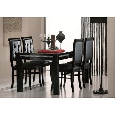 Table à manger et chaise noir strass PRESTIGE