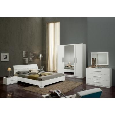 Chambre à coucher laqué blanc GLORIA