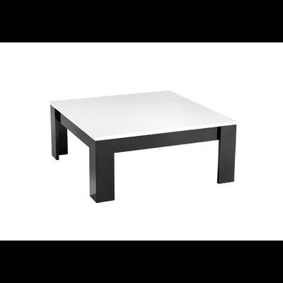 Table basse carré laqué noir blanc MODENA
