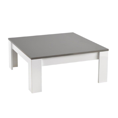 Table basse carré laqué gris MODENA