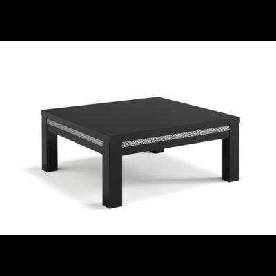 Table basse laqué noir ROMA Crome