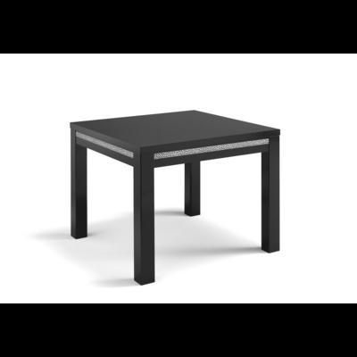 Table à manger et chaise noir ROMA Crome