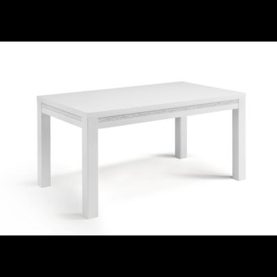 Table à manger et chaise blanc ROMA Crome