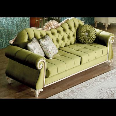Canapé baroque velours vert ASUR