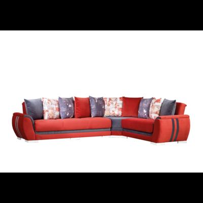 Canapé angle convertible-lit rouge DESERTO