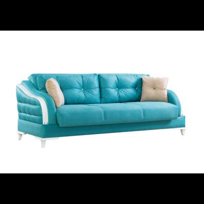 Canapé lit coffre tissu bleu NEW OXFORD