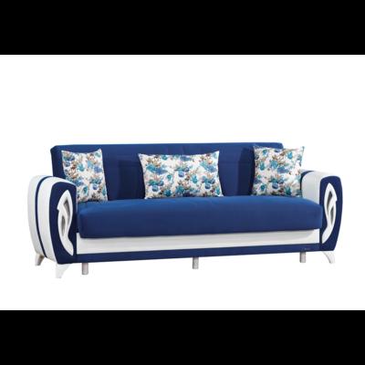 Canapé lit clic-clac coffre bleu DICLE