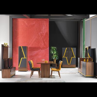 Salle à manger couleur bois marron PIRAMIT