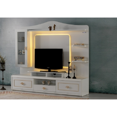 Mur-living Tv style baroque SAH