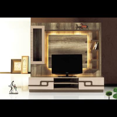 Mur-living Tv couleurs bois CAPUCINO