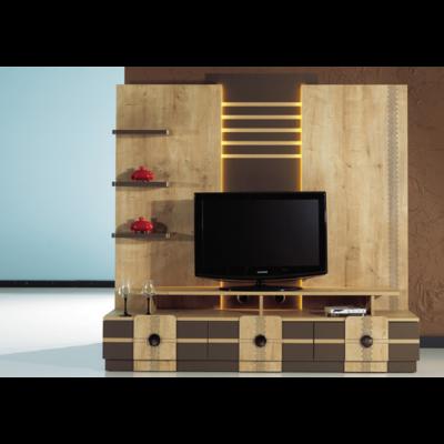 Mur-living Tv couleurs bois PASIFIK