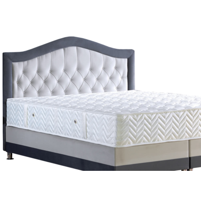 lit coffre capitonn velours matelas novara king size pas cher. Black Bedroom Furniture Sets. Home Design Ideas
